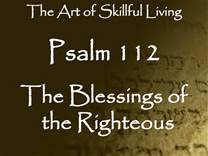 BLESSEDNESS OF THE RIGHTEOUS 2: Devotion for Monday October 10, 2016