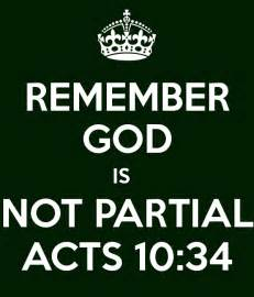 God Is Not Partial